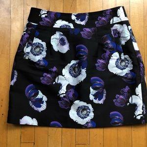 J. Crew Pleated Floral Skirt